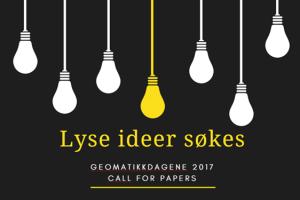Call for papers Geomatikkdagene 2017