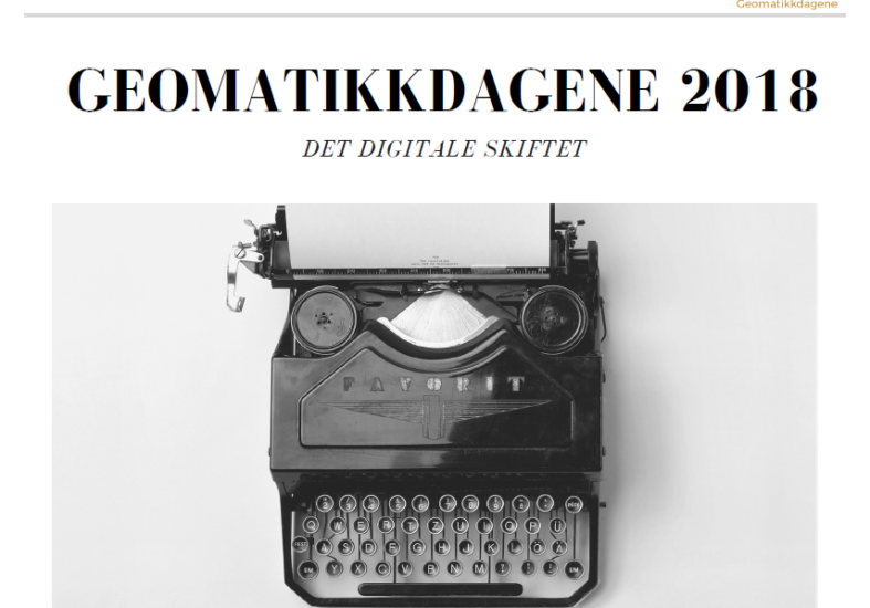Call for abstracts – Geomatikkdagene 2018