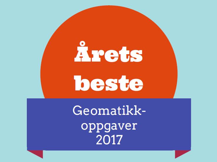 Årets beste geomatikkoppgaver 2017