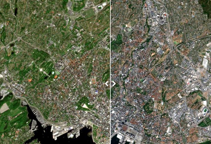 Satellittbilder viser tørke