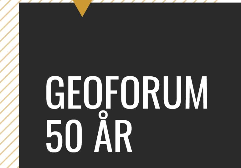 Jubileumsfeiring GeoForum 50 år