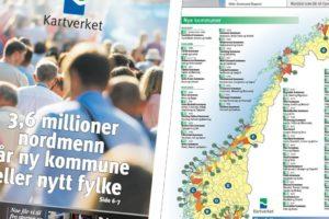 Les Kartverkets avis om kommune- og regionreformene