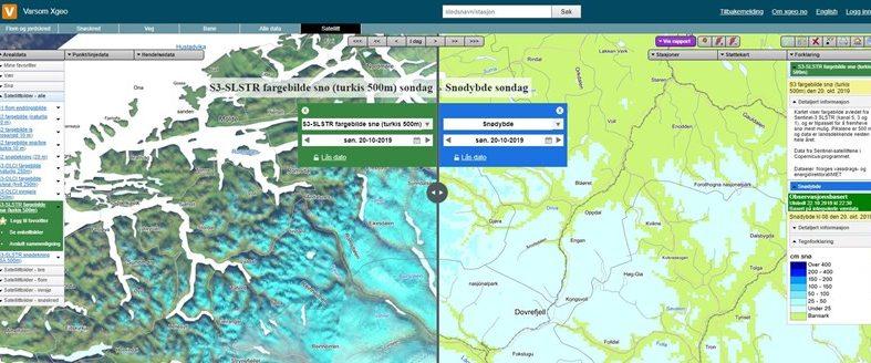 Satellittdata for å overvåke snø, is og flom
