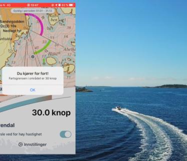 App for fartsgrenser på sjø